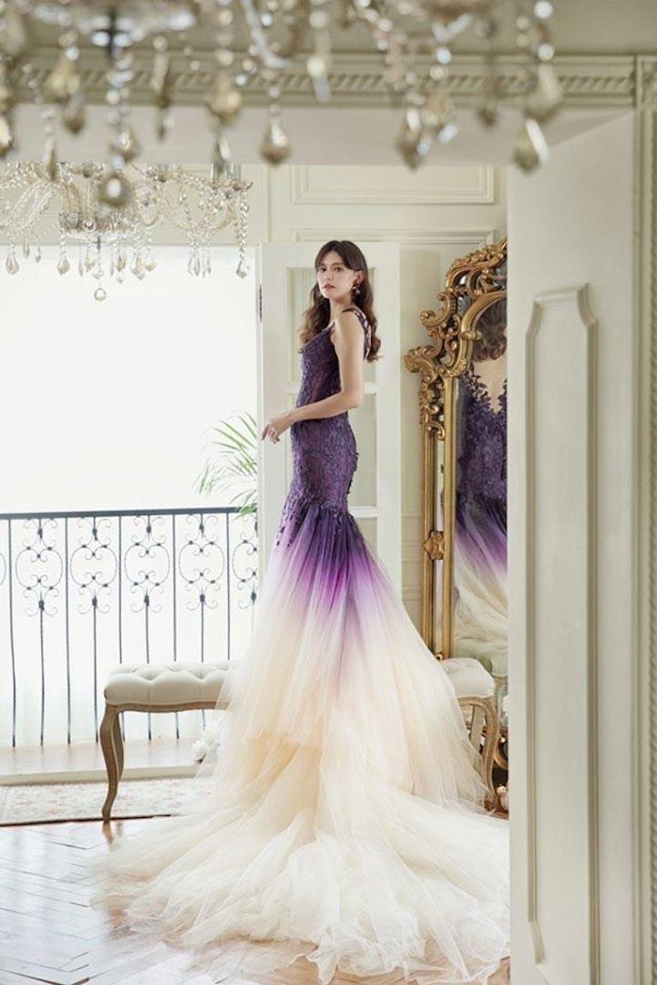 高雄法國台北婚紗 婚紗禮服 渲染系列