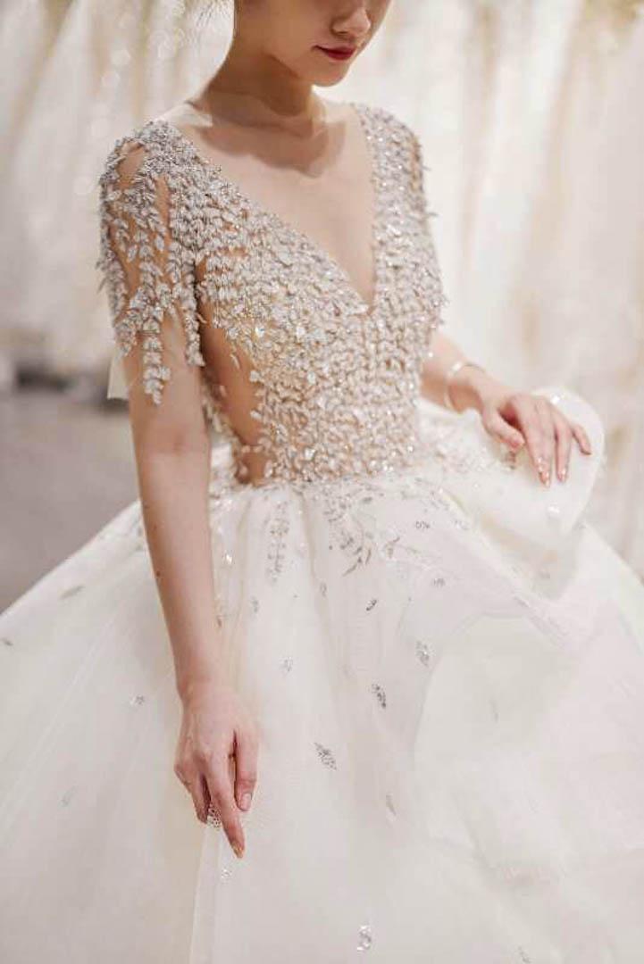 台北法國巴黎婚紗 秋冬新款 婚紗禮服 水晶婚紗 1