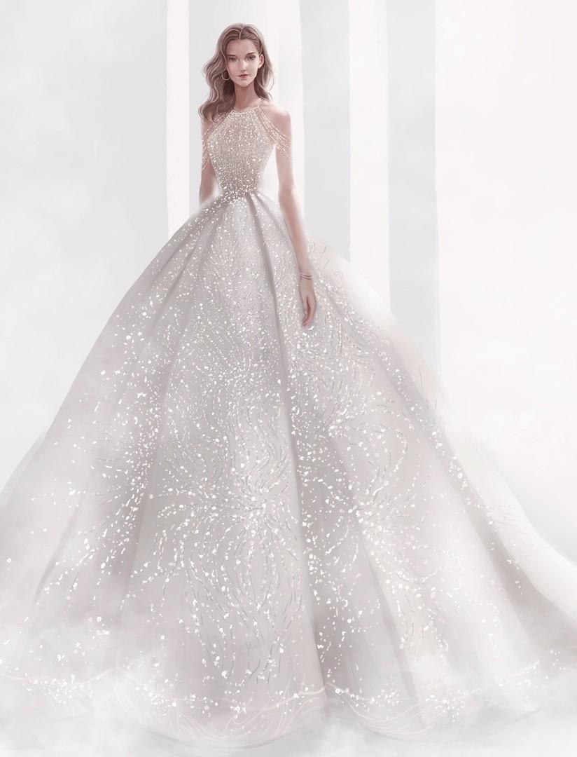 台北法國巴黎婚紗 秋冬新款 婚紗禮服 水晶婚紗 10