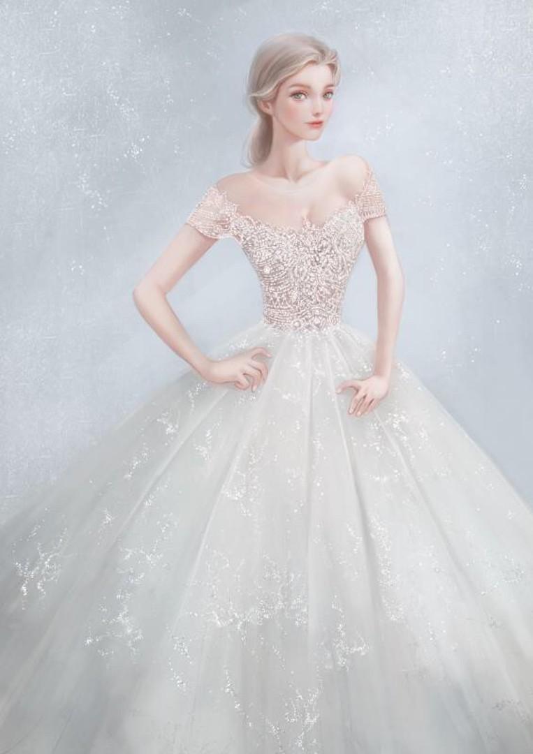 台北法國巴黎婚紗 秋冬新款 婚紗禮服 水晶婚紗 3