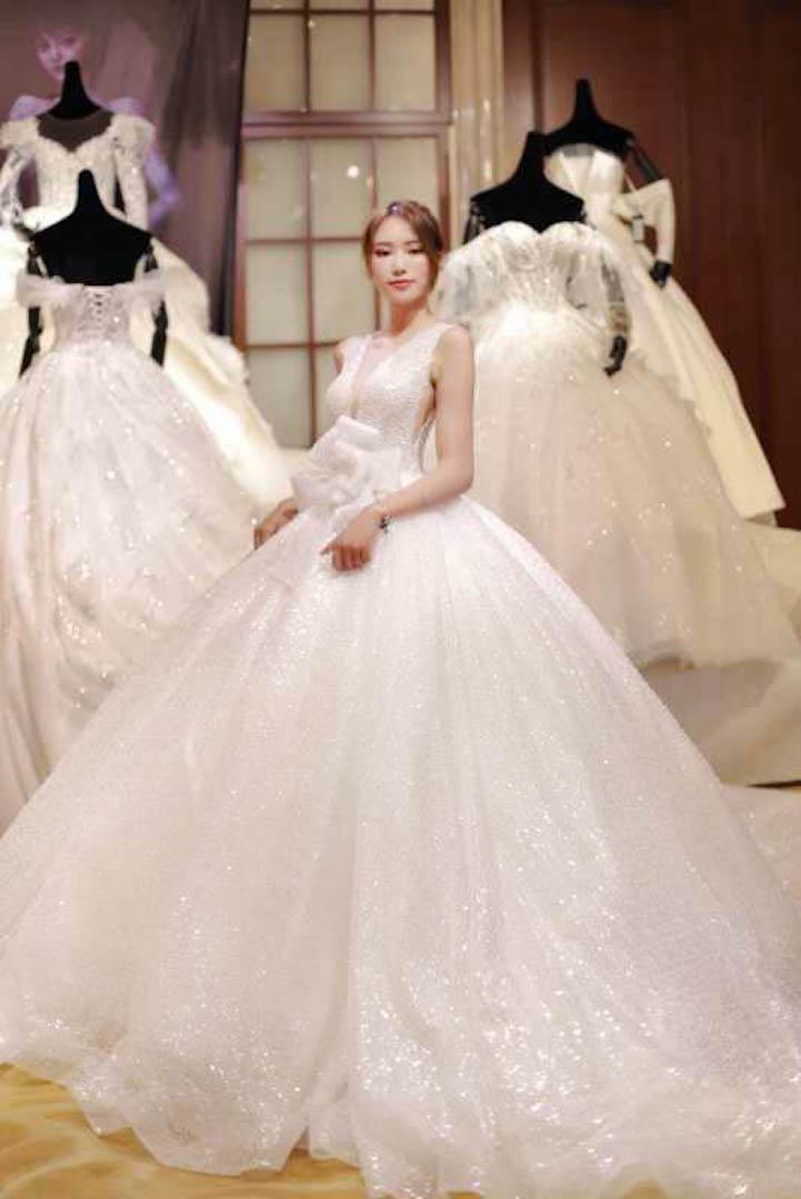 台北法國巴黎婚紗 秋冬新款 婚紗禮服 水晶婚紗 9